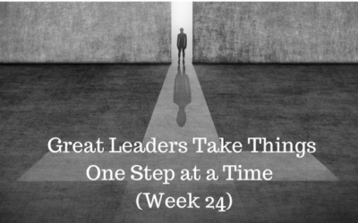 Great Leaders Take Things One Step at a Time - Week 24 - Credo Finacial Services - Atlanta GA