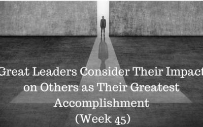 Great Leaders Consider Their Impact on Others as Their Greatest Accomplishment - Credo CFOs & CPAs - Atlanta GA